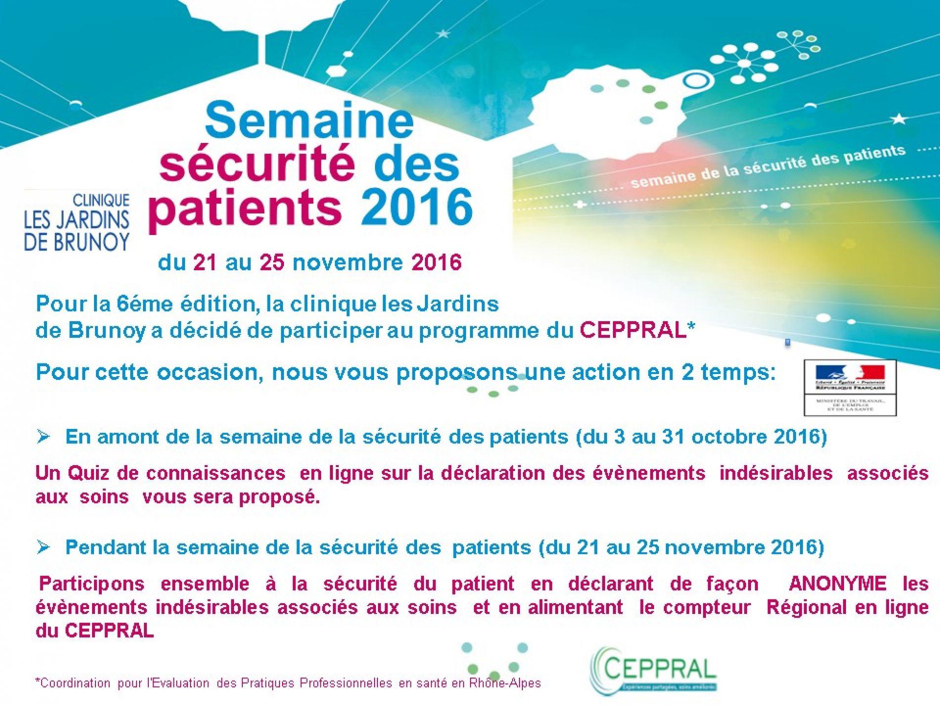 Semaine Sécurité Patients 2016